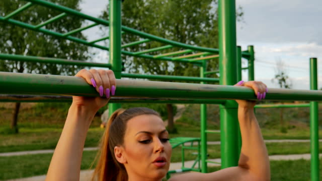 pull-ups exercise - chin ups stock videos and b-roll footage