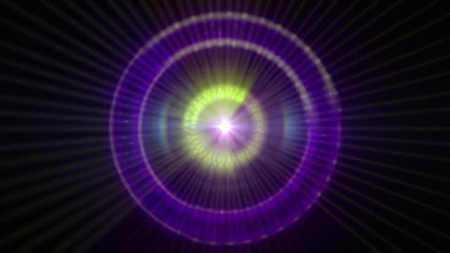 vídeos de stock, filmes e b-roll de pulsar 009: a graphic pulsar star radiating light and pulsating energy. - pulsating energy