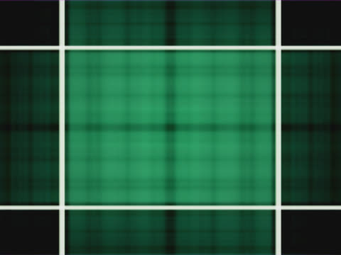 stockvideo's en b-roll-footage met cu cgi pulsating woven green light behind rectangle grid - uitfaden