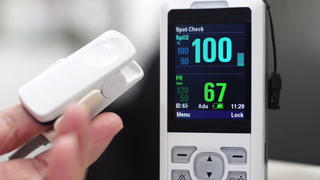 pulse oximeter - monitoring equipment stock videos & royalty-free footage