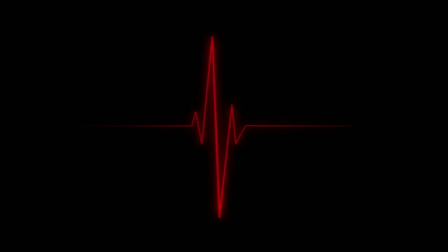 ecg/ekg | pulse trace - listening to heartbeat stock videos & royalty-free footage