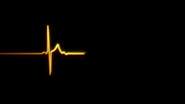 ecg/ekg | traccia dell'impulso - biomedical animation video stock e b–roll
