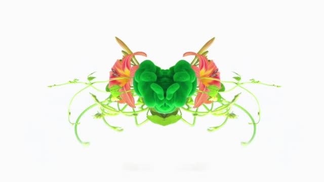 pulsing green heart with plants and flowers - blossom stock videos & royalty-free footage