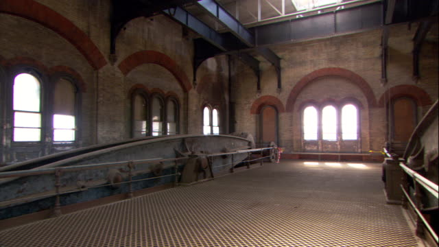 pumping equipment is idle at a london pumping station. - construction frame stock videos & royalty-free footage