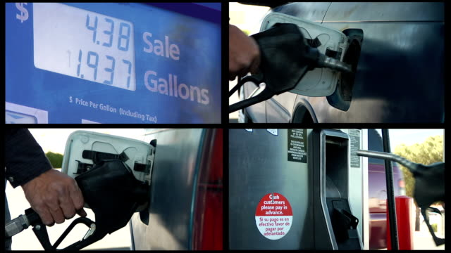 stockvideo's en b-roll-footage met pumping gas muliple shots - benzineprijzen