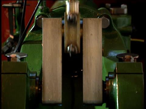 Pumping piston on industrial machine