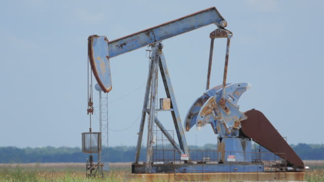 pumpjacks in texas - texas stock videos & royalty-free footage