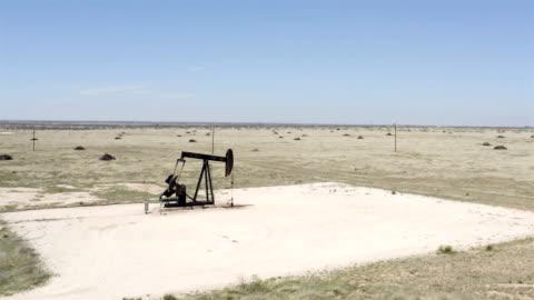 pumpjacks of west texas - oil industry stock videos & royalty-free footage