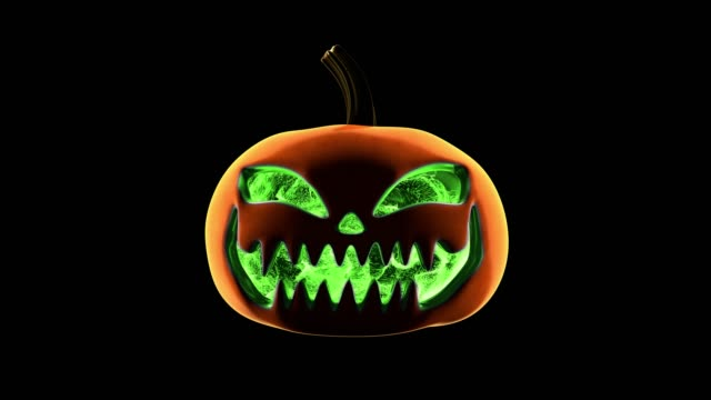 pumpkin green particles loop - zucca legenaria video stock e b–roll