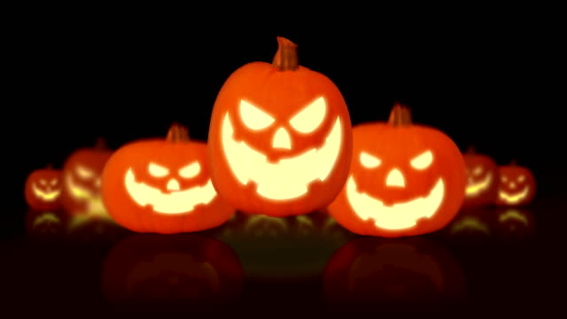 pumpkin halloween - paranormal stock videos & royalty-free footage