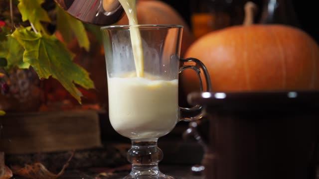 pumpkin latte - pumpkin stock videos & royalty-free footage