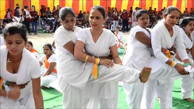 punches kicks and throws indian women demonstrate their selfdefence skills in new delhi to mark international women's day - self defense stock videos and b-roll footage