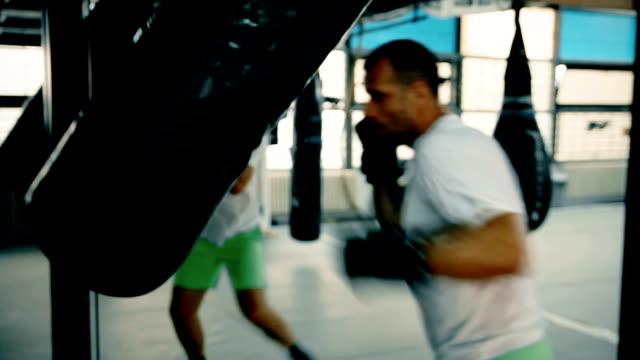 Punching boxing bag