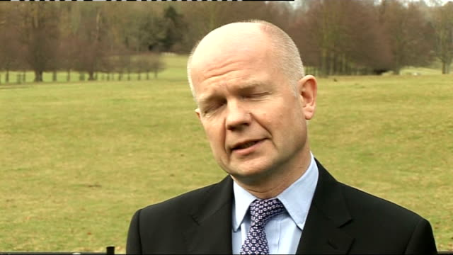 william hague comments on assassination england kent tunbridge wells ext william hague mp interview sot well i'm appalled by the assassination... - punjab pakistan stock videos and b-roll footage