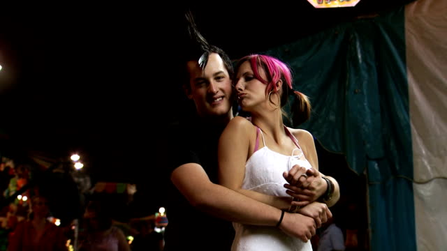 punk couple embracing - boyfriend stock videos & royalty-free footage