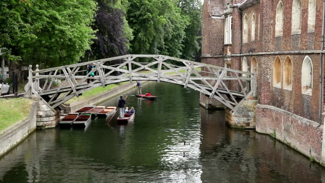 punting on the river cam, cambridge - cambridge university stock videos and b-roll footage