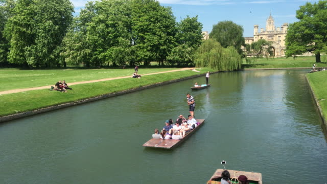 punting on the river cam. - river stock videos & royalty-free footage
