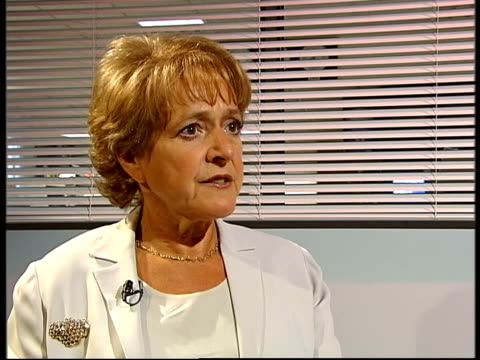 margaret hodge mp interview sot talks of reasons for girls better performance in gcse examinations - マーガレット・ホッジ点の映像素材/bロール