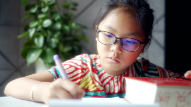 pupils look up the dictionary - pencil stock videos & royalty-free footage