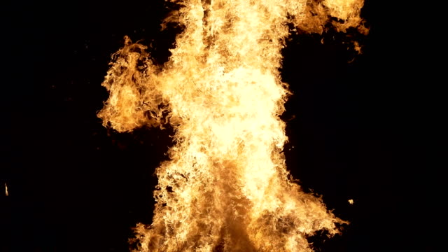 puppet of an old witch is burning during'giubiana'- a traditional celebration in the northern italy where a puppet of an old witch is burnt - 30... - witch stock videos & royalty-free footage