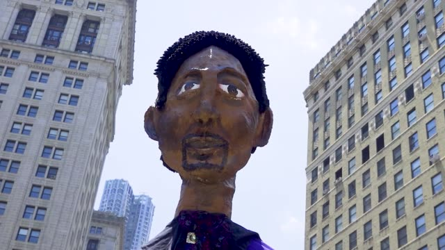 puppet of billy porter an american broadway theater performer singer and actor thousands gathered for the 'queer liberation march for black lives and... - social justice concept stock videos & royalty-free footage