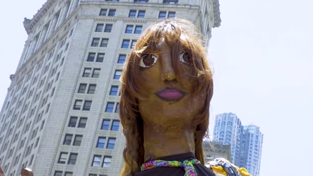 puppet of laverne cox an american actress and lgbtq advocate thousands gathered for the 'queer liberation march for black lives and against police... - social justice concept stock videos & royalty-free footage