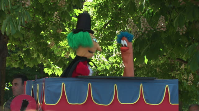 ms puppet show, retiro park, madrid, spain - puppet stock videos and b-roll footage