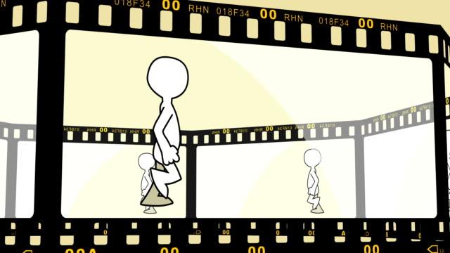 Fantoche de andar no filme