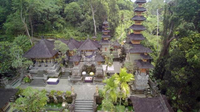 pura gunung lebah temple bali - temple building stock videos & royalty-free footage