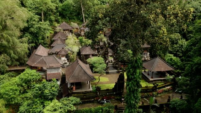 pura gunung lebah temple in ubud rainforest, indonesia - campuhan stock videos & royalty-free footage