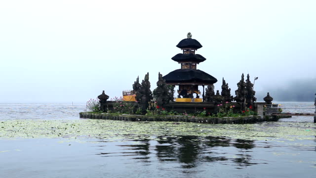 pura ulun danu bratan temple on bali, indonesia - pura ulu danau temple stock videos & royalty-free footage
