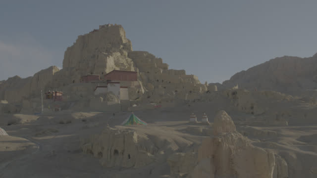 purang-guge kingdom - tibet autonomous region stock videos & royalty-free footage