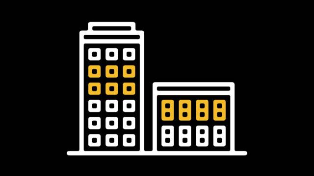 Kauf Immobilie Linie Symbol Animation mit Alpha