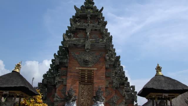 puri saren agung (water palace or royal palace) in ubud, bali - indonesia landmark stock videos & royalty-free footage