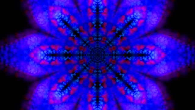Purple and Blue Kaleidoscopic Loop