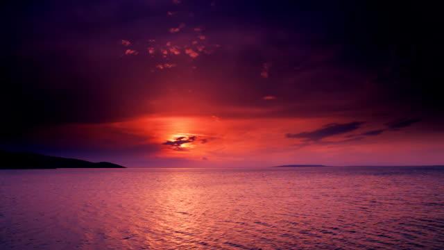 HD: Purple Bay At Sunset