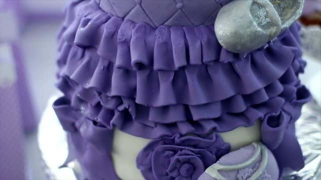 Purple Birthday Baby Cake