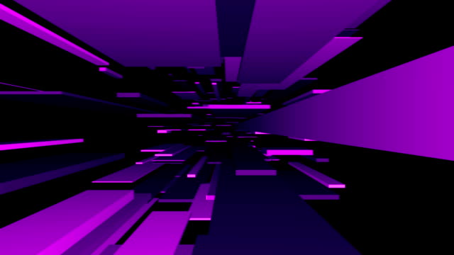 purple blocks tunnel loop/abstrakte futuristisch animation - unendlichkeit stock-videos und b-roll-filmmaterial