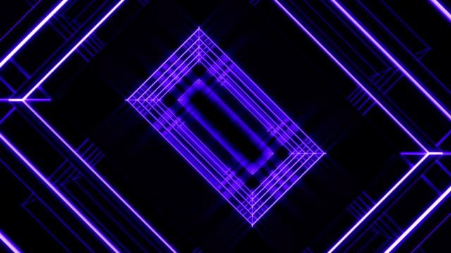 purple corridor loop - music video stock videos and b-roll footage