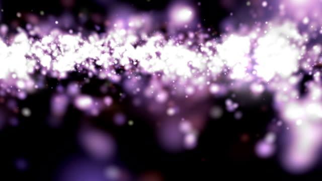 purple defocused particles