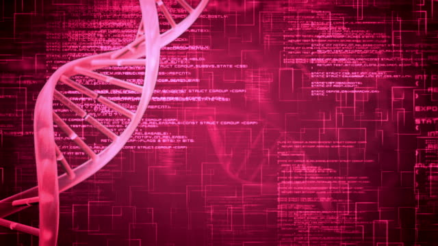 purple dna helix with flying text - western script stock videos & royalty-free footage
