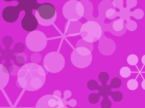 cgi, purple floral pattern - viraggio monocromo video stock e b–roll