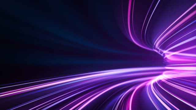purple high speed light streaks background - abstract, data transfer, bandwidth - loopable - bandwidth stock videos & royalty-free footage