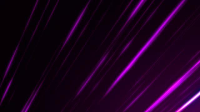 vídeos de stock e filmes b-roll de purple lines backgrounds loopable - reflexo cabelo pintado