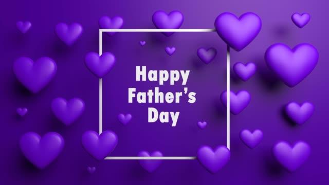 vídeos y material grabado en eventos de stock de corazones púrpura hermosa feliz día del padre - father day