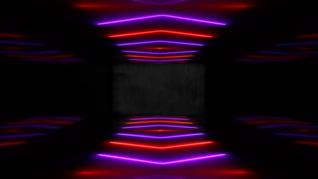 purple neon led vj event concert title presentation music videos show party abstract loop - projection screen stock videos & royalty-free footage