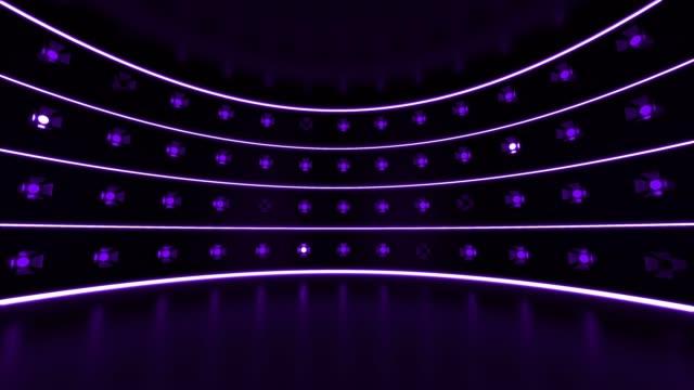 purple nightclub lights - spotlight stock videos & royalty-free footage