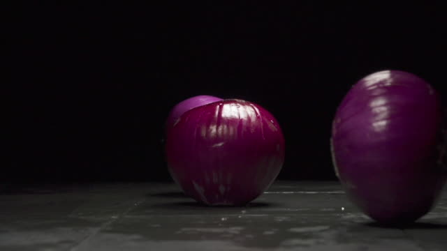 purple onions - onion stock videos & royalty-free footage
