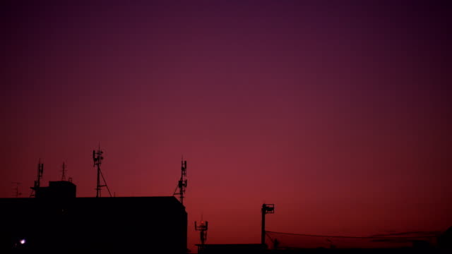 purple orange sunset over bangkok city. - porto alegre stock videos and b-roll footage