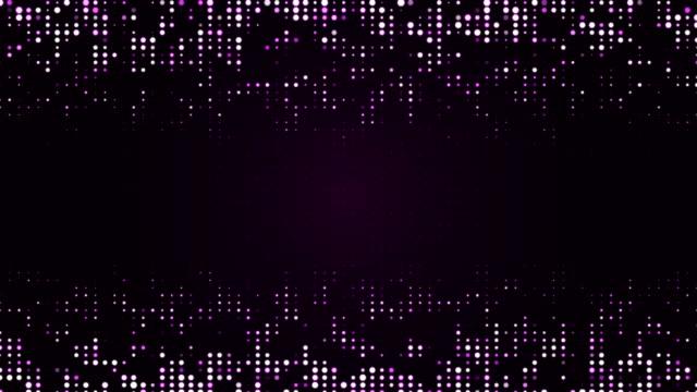 vídeos de stock, filmes e b-roll de partículas roxas (loopable) - joining the dots